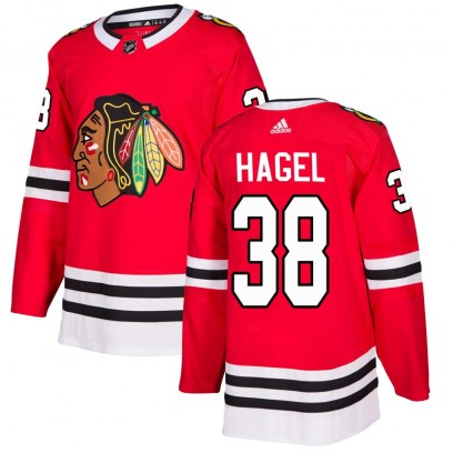 Youth Authentic Chicago Blackhawks Brandon Hagel Adidas Home Jersey - Red